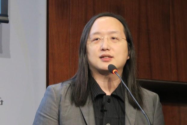 台湾首位数字政务委员唐凤上任后第三次访问华盛顿 (自由亚洲电台记者唐家婕华盛顿摄)