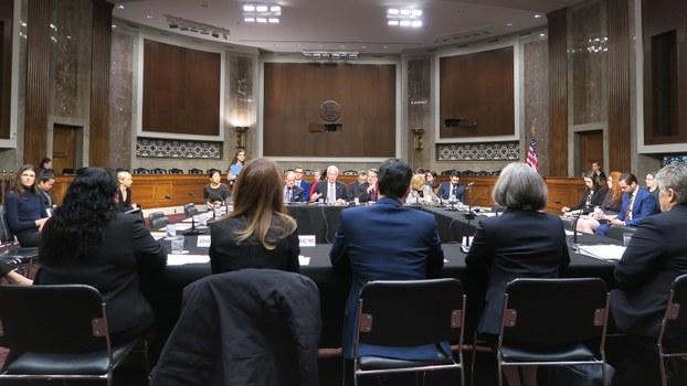 美国国会2020年2月12日专门就美国医疗产业链对中国的依赖举办听证会。图为听证会现场 (自由亚洲电台记者唐家婕华盛顿摄)