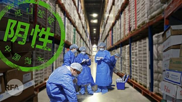 进口冷冻食品和包装是新冠祸首吗?(自由亚洲电台制图)