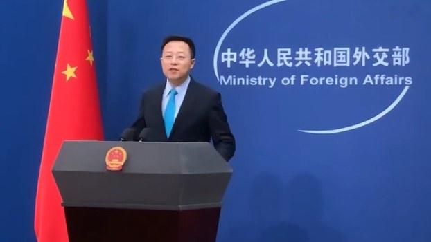 中国外交部新任发言人赵立坚。(视频截图)