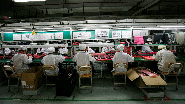 富士康母公司鸿海按照苹果公司的要求,正在越南东北部的北江省厂房兴建生产线。(路透社图片)