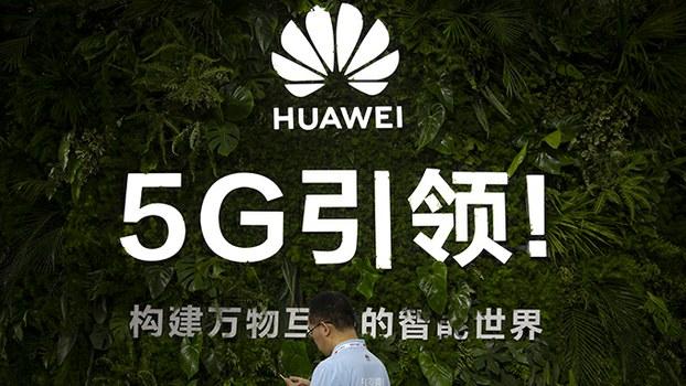 中国华为公司的5G宣传。加拿大的一家电讯公司决定在5G的部分设备中选用华为产品。(美联社)