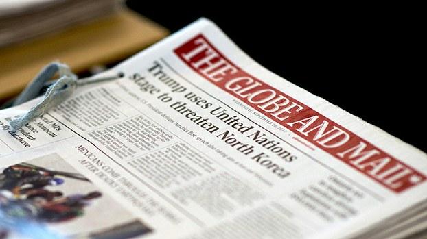环球邮报是加拿大最大的全国性报纸  (环球邮报官网)