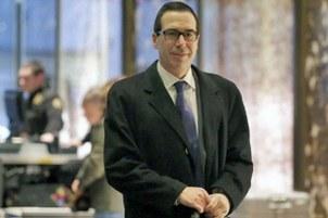 美国财政部长姆努钦。(AP)