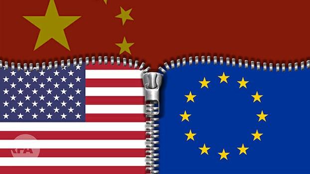 美国会发布外交战略报告 强化美欧合作对抗中国挑战(自由亚洲电台制图)