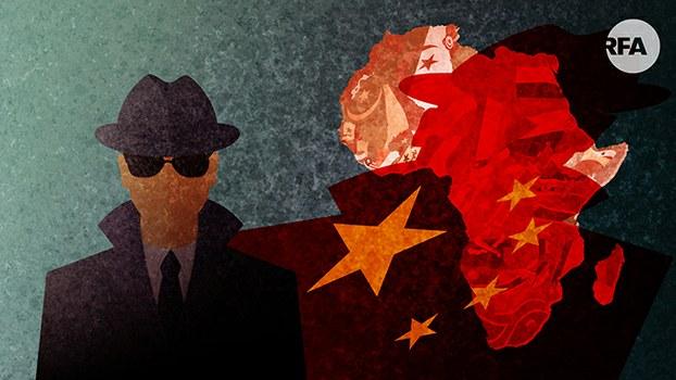美报告:中国或利用非洲基建项目搜集情报(自由亚洲电台制图)