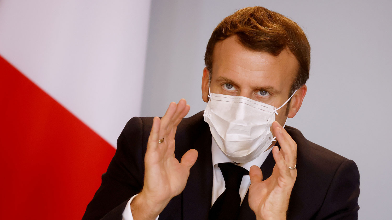 """法国总统马克龙近日在接受媒体访问时,就疫苗的""""世界公共资产""""概念质疑中国参与""""全球冠病疫苗保障机制""""(COVAX)的程度。(路透社)"""