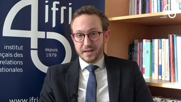 法国国际关係研究所(IFRI)研究员朱利安(Marc Julienne)根据这个研究成果,发表「后疫情时代法国对中国的公共看法:政治不信任胜过经济机会」文章。(视频截图/IFRI)