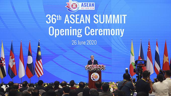 资料图片:2020年6月在越南举行的第36届东盟峰会(美联社)