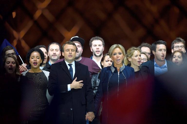 法国以压倒多数选举出马克龙为新任总统。(法新社)