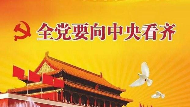 资料:中国官方网络宣传拥护共产党核心领导的图片(Public Domain)