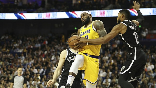 2019年10月10日举行的NBA上海赛2019(美联社)