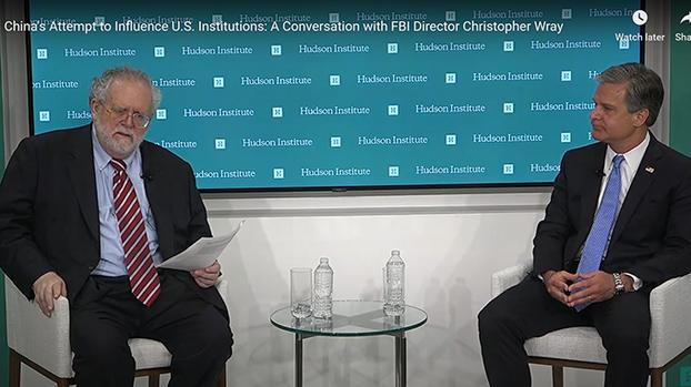 2020年7月7日,美国华盛顿智库哈德逊研究所就中国试图渗透影响美国举办讨论会。(视频截图)