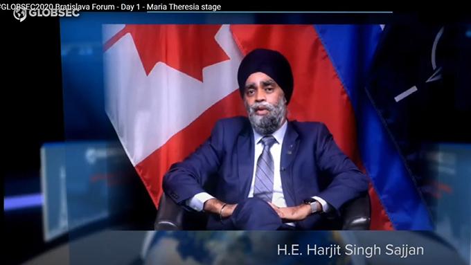 加拿大国防部长批评中国进行人质外交  (网络截图)