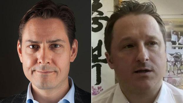 左图:加拿大公民康明凯(AFP)右图:商人斯帕弗(AP)