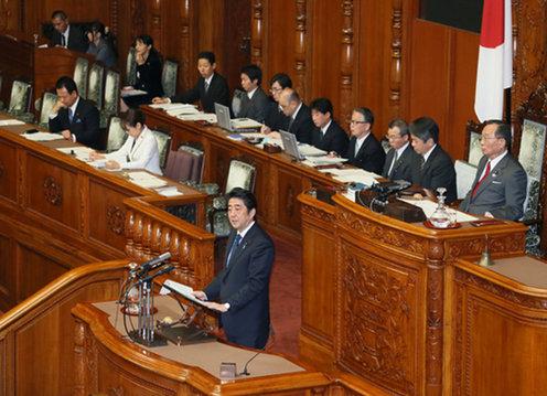 图片: 《特定秘密保护法案》在众议院获强行通过,并递交参议院审议通过。 (记者南洲提供)