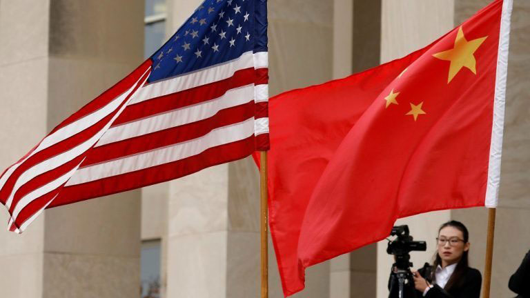 自美中贸易战爆发以来,中方开动宣传机器向集中火力炮轰美国。(美联社资料图片)