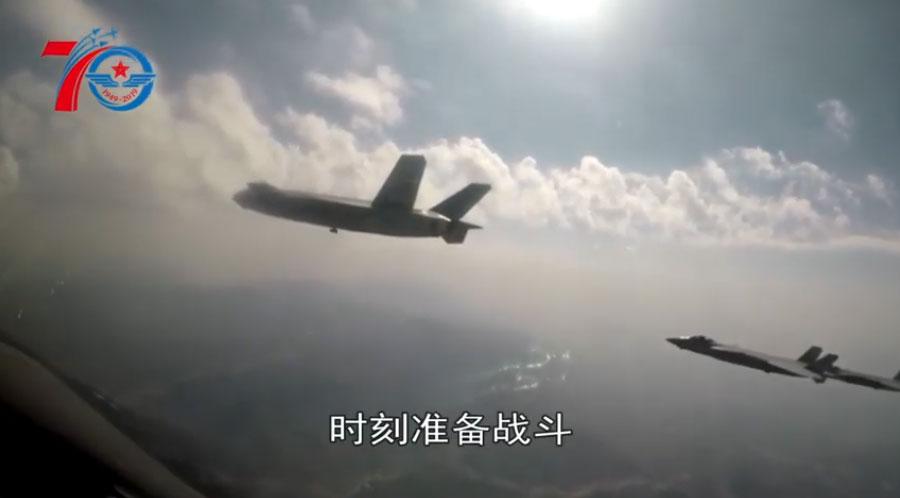 """2019年中国""""八一""""建军节,中国空军发布最新宣传视频《初心伴我去战斗》。(视频截图/CHINA TIME)"""