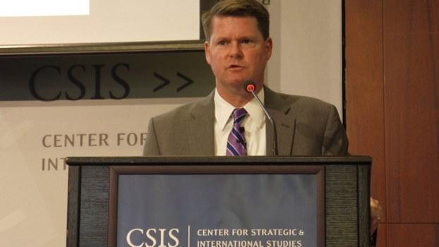 美国国防部印太事务助理部长薛瑞福(Randall Schriver)证实,中国取消美国海军军舰近来原订访问青岛的行程,中方告知的理由是「不方便接待」。(记者郑崇生摄)