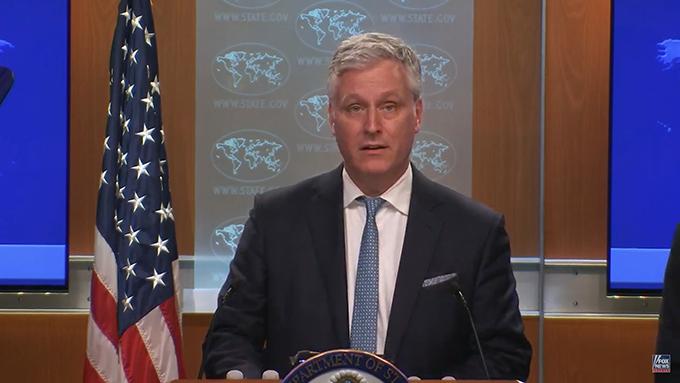 美国国家安全顾问奥布莱恩(Robert O'Brien)(视频截图)