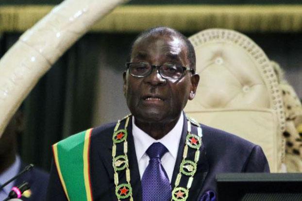 津巴布韦总统罗伯特.穆加贝。(AFP PHOTO)