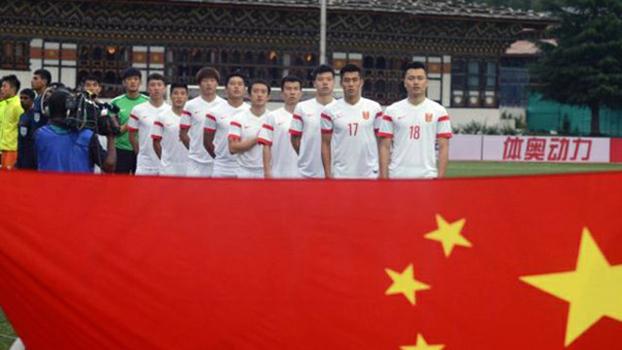 资料图片:中国男足国家队(法新社)