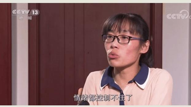 被顶替的大学生陈春秀(视频截图/CCTV)