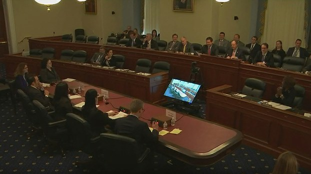 美国国会众议院情报委员会5月15日就中国使用高科技手段在国际、国内进行监控和渗透举行听证会。 (视频截图)
