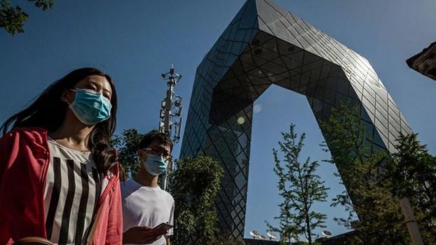 位于北京的中国央视大楼(法新社)