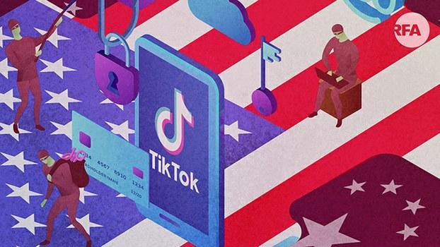疫情中下载量大增 抖音在美国会被禁吗?(自由亚洲电台制图)