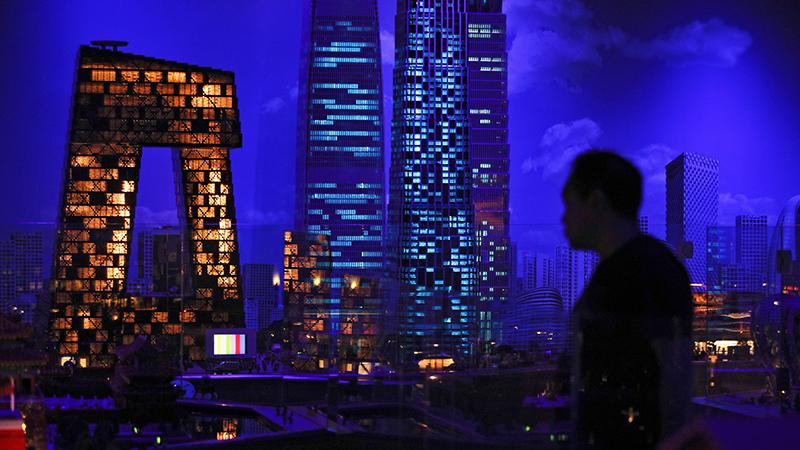 中国的央视大楼(美联社)