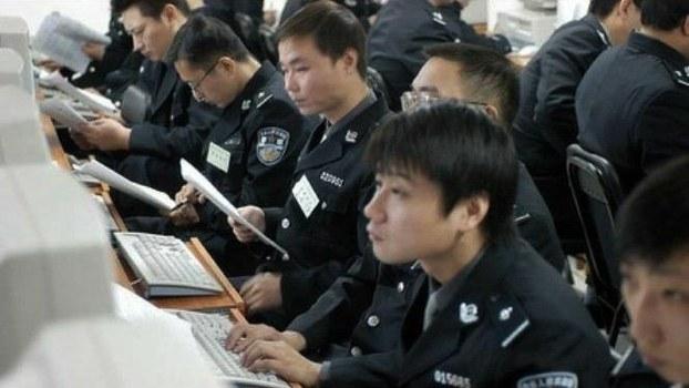 中国网络警察正在监控互联网。(媒体人提供)