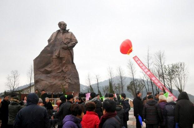 图片: 位于浙江台州的胡耀邦铜像。 (法新社资料图片)