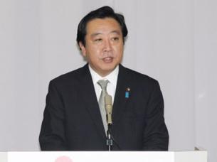 """图片:日本首相野田佳彦21号日在民主党两院议员恳谈会上表示: """"金正日去世后的朝鲜应该不会发生特别异常的情况,但仍会保持谨慎、做出恰当应对""""(日本官网图片)"""