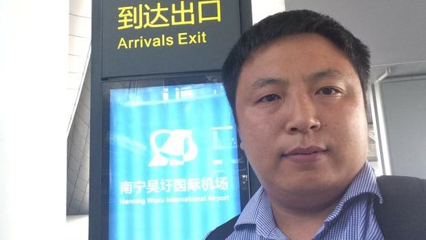 旅美中国律师陈建刚(推特截图)