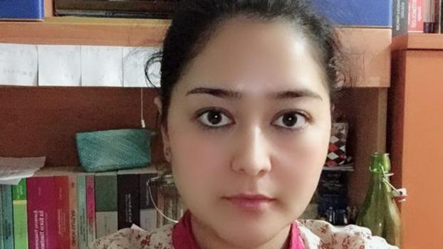 获得独立中文笔会2019年度林昭纪念奖的维吾尔笔会会员、女作家玛丽亚·苏尔坦(Meryem Sultan)(独立中文笔会)