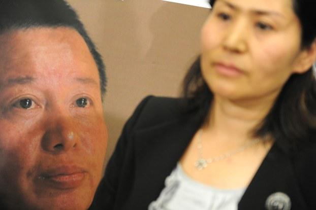中国人权律师高智晟与妻子耿和(法新社)