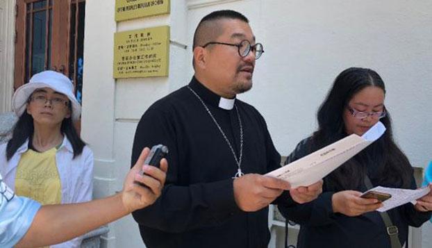 美国旧金山的刘贻牧师(记者CK摄影)