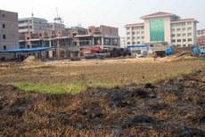 湖南省临武县玉屏村的一千多亩良田被强征后,建商品房。(陈女士提供/首发)