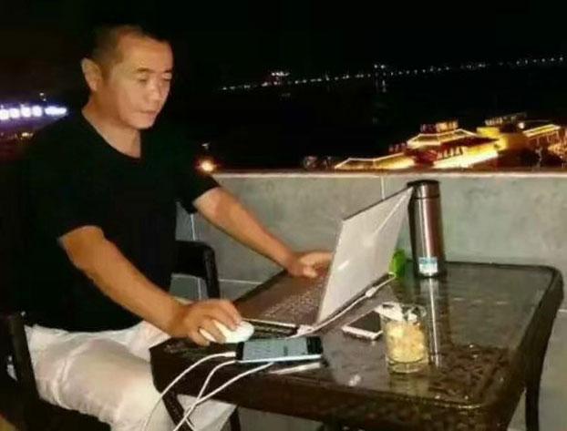 六四天网创办人黄琦被捕前。(志愿者提供/记者乔龙)