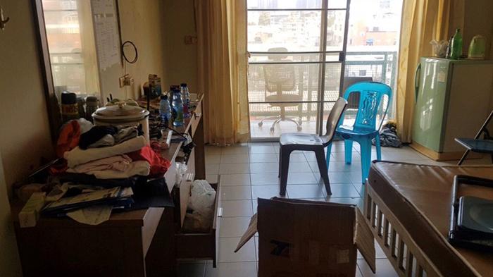 邢鉴在曼谷的住所被彻底搜查(志愿者提供/记者乔龙)