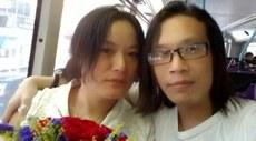 图片:刘沙沙(左)和杨匡 (刘沙沙提供)。