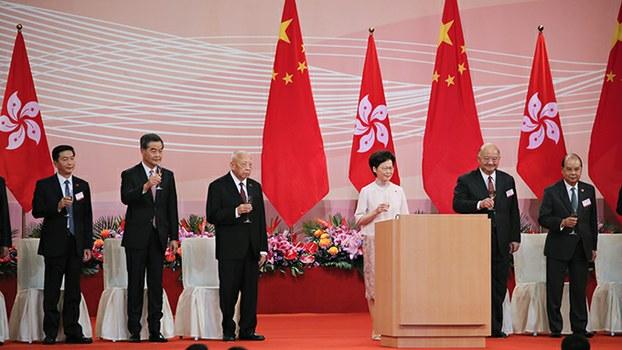 2020年6月30日,香港特区纪念香港主权交接二十三年。(美联社)