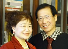 资料图片:中国民主人士秦永敏与妻子赵素利。(Public Domain)