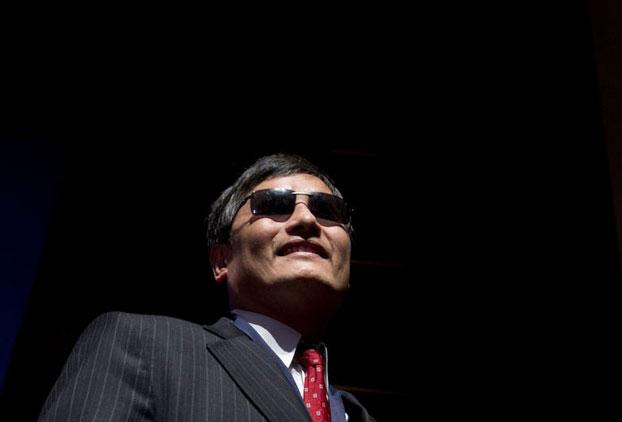 图片:中国盲人维权人士陈光诚(法新社)