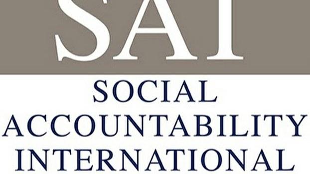 审计公司国际社会责任组织(Social Accountability International)标志 (Public Domain)