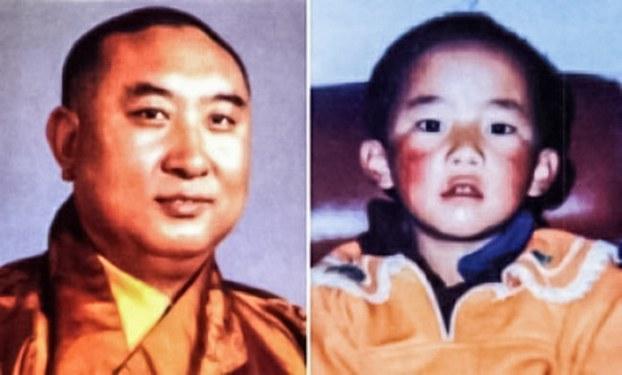 第十世班禅喇嘛和至今失踪的第十一世班禅喇嘛更敦确吉尼玛(资料图片)