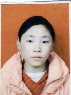 图片:自焚身亡的青海泽库县16岁女学生班钦吉。(受访人提供)