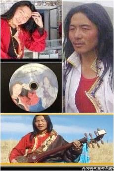 图片:夏吾扎西和他的弹唱专辑。(受访人提供)