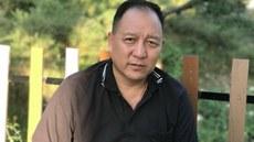 达赖喇嘛驻台湾代表达瓦才仁(记者丹珍2017年10月摄于达兰萨拉)